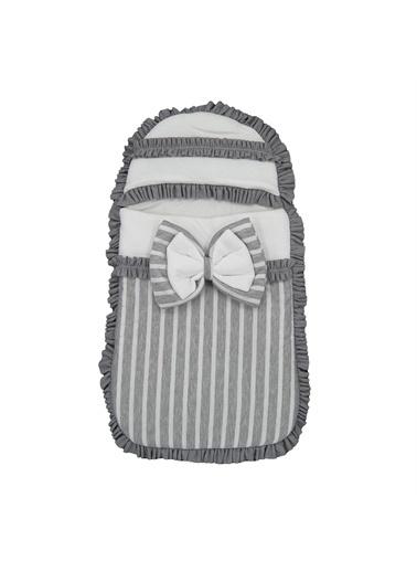Bebesel Bebesel Fermuarlı Bebek Kundagı 1112 Gri